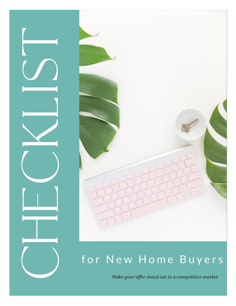 New Home Buyer CHecklist