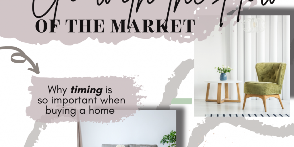 Wording says Go With the Flow of the Market and shows scenes of an interior of a home